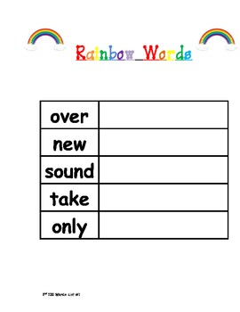 2nd 100 Fry Sight Words Student Activity Packet