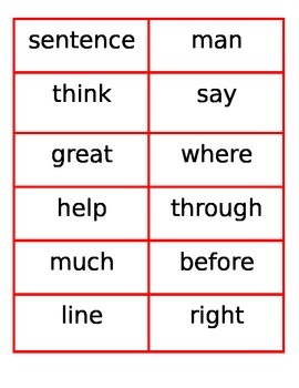 2nd 100 Fry Word Flashcards