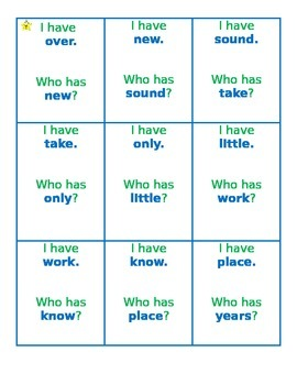 """2nd 100 Fry Words """"I Have, Who Has?"""" Task Cards"""
