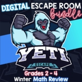 2nd, 3rd, & 4th Grade Winter Digital Escape Room Math Revi