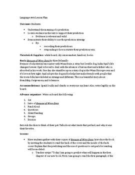 2nd 3rd 4th Reading English Language Arts Lesson Plan Prediction