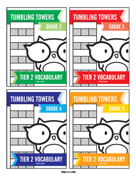 2nd, 3rd, 4th and 5th Grade Tier 2 Vocabulary Word Tumbling Towers Combo Pack