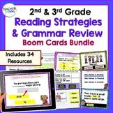 2nd & 3rd Grade BOOM CARDS : ALL YEAR Reading, Grammar & Language BIG Bundle