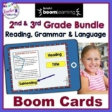 BOOM CARDS Distance Learning 2nd Grade ALL YEAR Reading & Grammar Bundle
