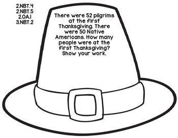 2nd 3rd Grade Common Core Thanksgiving Math Assessment