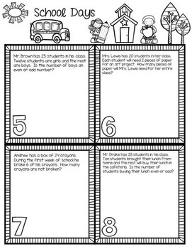 2nd & 3rd Grade Problem Solving: Back to School Edition