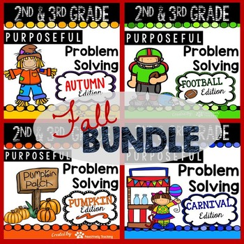 2nd & 3rd Grade Problem Solving: Fall Bundle