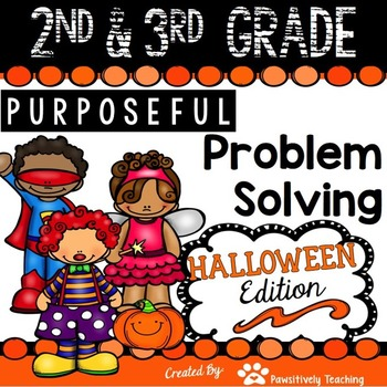 2nd & 3rd Grade Problem Solving: Halloween Edition