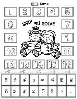 2nd & 3rd Grade Problem Solving: Winter Edition