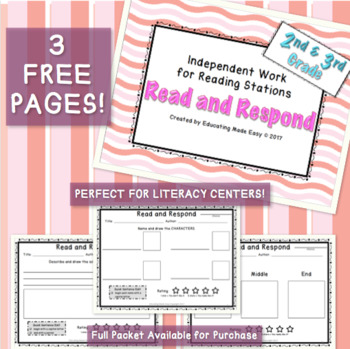 Read and Respond for Literacy Centers - FREE SAMPLE