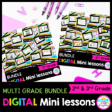 2nd & 3rd Grade Reading Mini Lessons Bundle - Google & Seesaw Distance Learning