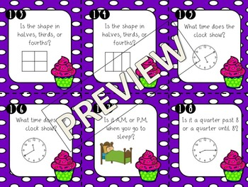 2nd & 3rd Grade Review Task Cards