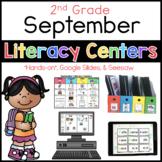 2nd Grade September Literacy Center Menu