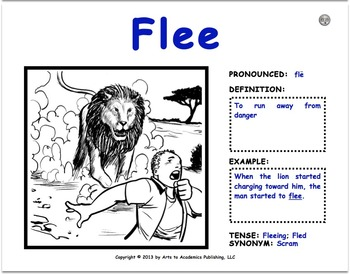 """Visual Vocabulary """"Comprehension"""" Word Cards (2nd-3rd Grade Verbs (10 Pack #2))"""