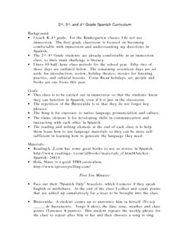 2nd-4th Grade Curriculum