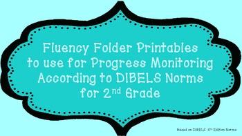 2nd-4th Grade Fluency Folder Printables Bundle Pack  for P
