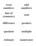 2nd - 4th Grade Math Vocabulary Flashcards - Texas