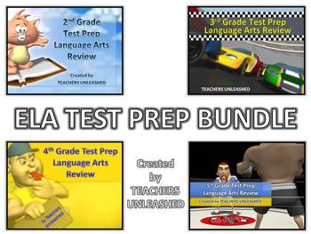 2nd - 5th Grade ELA Test Prep Bundle