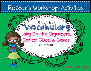 Reading Workshop Vocab Centers & Station Activities - RI 4, L4, L5