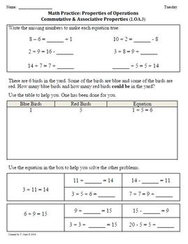 (2nd 9 Weeks) 1st Grade Common Core Math Worksheets [BUNDLED]