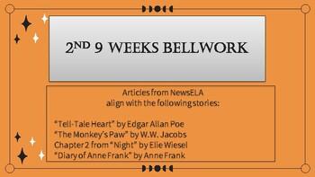 2nd 9 Weeks English Bellwork