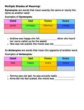 2nd 9 Weeks Second Grade Grammar Packet