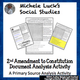 2nd Amendment to Constitution Document Analysis Activity