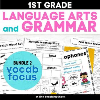 1st Grade Language Arts No-Prep Printables Bundle 2 (Common Core or Not)