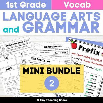 1st Grade Language Arts No-Prep Printables Bundle 2 (Commo