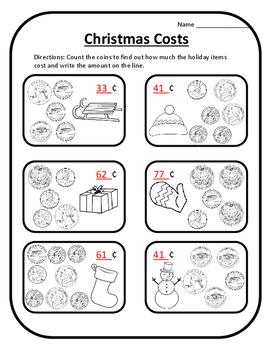 Christmas Math Money Christmas Math Coins 2nd Christmas Math 2nd