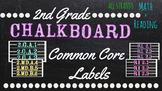 2nd Grade Common Core Math/Reading Chalkboard Labels (Sterilite Containers)