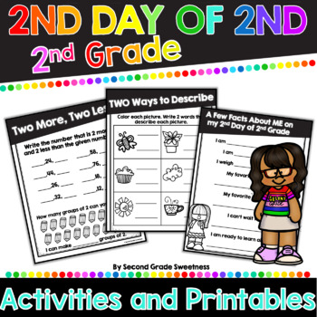 2nd Day of 2nd Grade Mini Booklet {Back to School Activity for 2nd Graders}