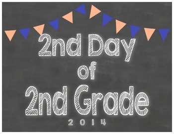 2nd Day of 2nd Grade Sign