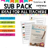 Relief and Substitute Teacher Survival Pack and Sub Plans #bf50