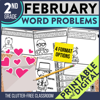 2nd GRADE FEBRUARY WORD PROBLEMS