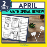 Second Grade Math Homework or 2nd Grade Morning Work for APRIL