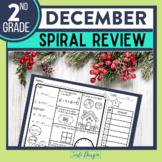Second Grade Math Homework or 2nd Grade Morning Work for DECEMBER