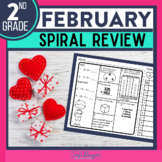 Second Grade Math Homework or 2nd Grade Morning Work for FEBRUARY