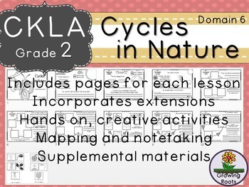 2nd GRADE LEVEL LICENSE:CKLA 2nd Cycles in Nature Domain 6