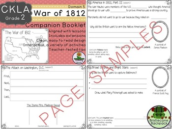 2nd GRADE LEVEL LICENSE:CKLA 2nd The War of 1812 Companion Domain 5