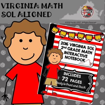 2nd GRADE MATH VIRGINIA SOL INTERACTIVE NOTEBOOK