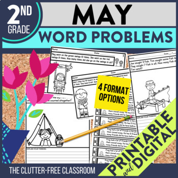 2nd GRADE MAY WORD PROBLEMS - 50% OFF 1ST 24 HOURS