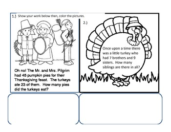 2nd Gr. Thanksgiving Packet