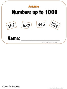 2nd Grade:  14 Activities with Numbers up to 1000 for Math Centers