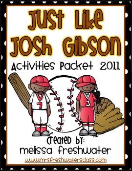 2nd Grade 2011 Reading Street Unit 6.1 Just like Josh Gibson Supplemental Pack