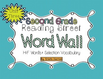 2nd Grade 2013 Reading Street Word Wall Cards - Unit Three