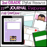 2nd Grade 21 days of Journal Responses for SeeSaw (SET 1)