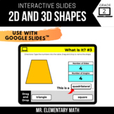 2nd Grade 2D and 3D Shapes | Google Classroom™ | Distance