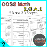 2nd Grade, 2D and 3D Shapes and Their Attributes- No Prep