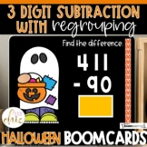 2nd Grade 3 Digit Subtraction with Regrouping Fall Boom Cards